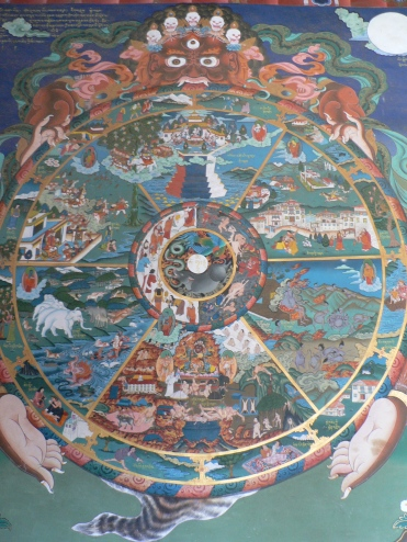 The_wheel_of_life,_Trongsa_dzong